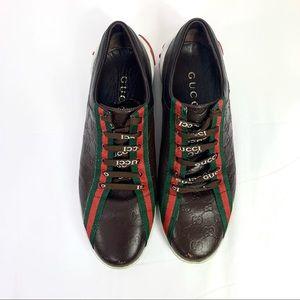 Authentic Gucci GG Monogram Men's Shoes Sz 42